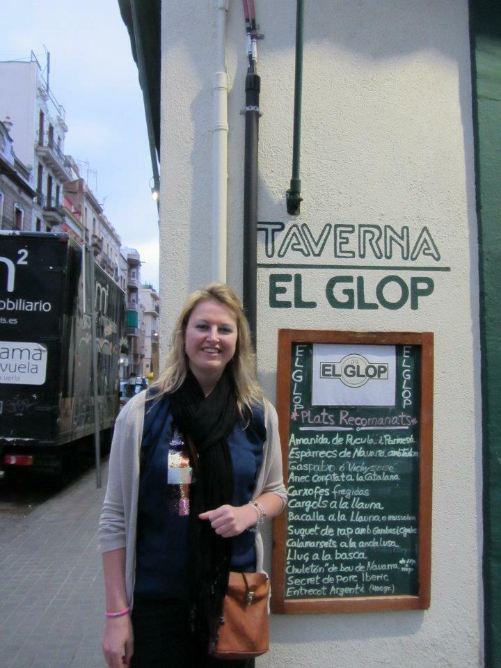 Jen outside the restaurant in 2012