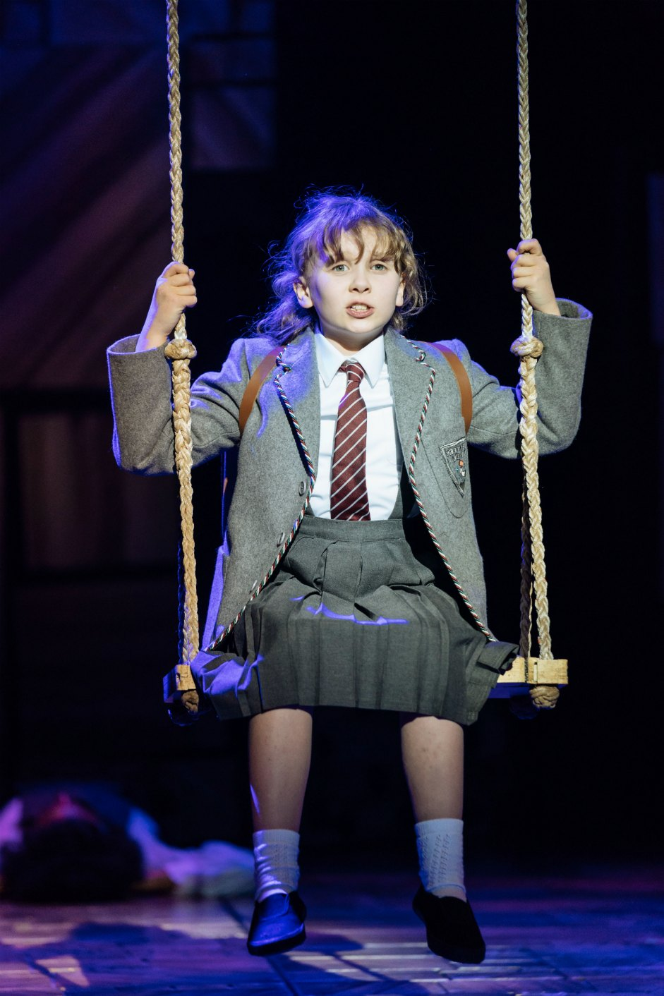 22-RSC Matilda The Musical UK & Ireland Tour. Annalise Bradbury (Matilda). Photo Manuel Harlan.