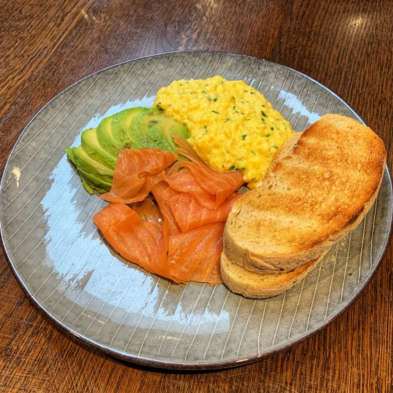 Scrambled Eggs, Smoked Salmon & Avocado